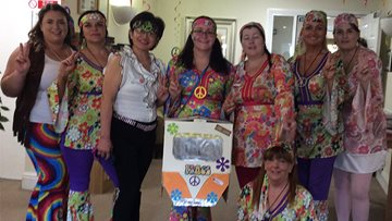 Local Care Home goes back in time for a 60's rave