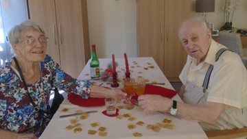 Valentine's Day celebrations at Laindon care home