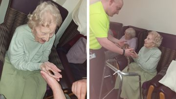 Ferryhill care home enjoys a walk on the wild side during Zoolab visit