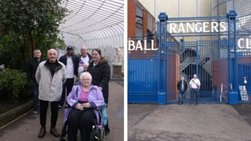 Glasgow care home Residents visit Kibble Palace