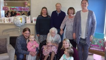 100 birthday candles for Durham care home Resident