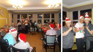 Christmas is all around at Newton Heath care home