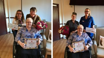 Green fingered Alloa care home Resident recognised in HC-One Gardening Competition