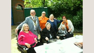 Stevenage care home Residents attend Mayor's garden party