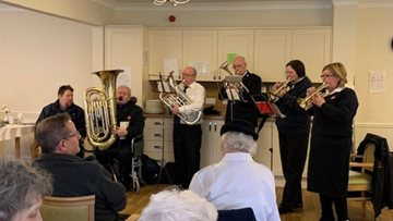 Salvation Army performs at Stafford care home