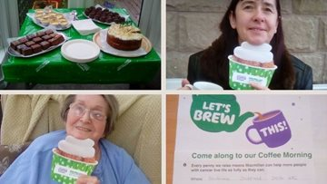Duffield care home donate coffee morning proceeds to Macmillan