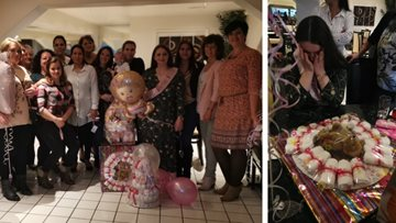 Baby shower celebrations at Belper care home