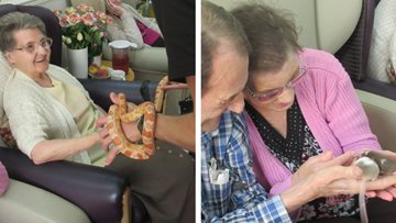 Critters and creatures visit Cradley Heath care home