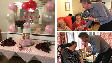 Residents celebrate day of love at Cherry Willingham care home
