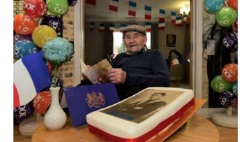 Adrien from Sheraton Court marks his milestone 100th birthday