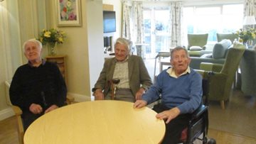 Residents joined by family and friends for delicious Highfield coffee morning