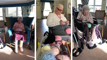 Falkirk care home knitting group supports local neo-natal unit