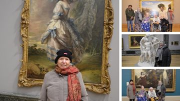 Hayes care home Residents visit London art gallery