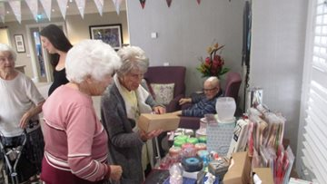 Residents make a start on their Christmas shopping at Knick Knack party