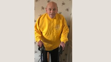 Beekeeper jumper makes Brixworth care home Resident's day