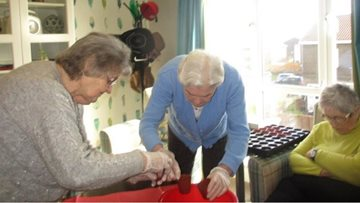 Peterlee care home Residents enjoy some indoor gardening