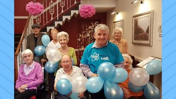 Worsley Lodge put on walking booots for Alzheimers