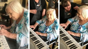 Resident plays piano for first time in 20 years