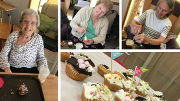 Charity Cupcake Day celebrations at Wigston care home
