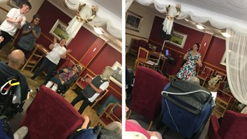 Father's Day celebrations at Wigston care home