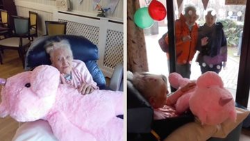 97th birthday celebrations at Nottingham care home