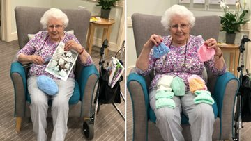 Knitting superstar gifts the premature baby unit at the RVI in Newcastle