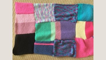 Henley care home Residents get knitting