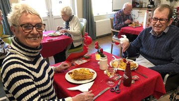 Valentine's Day meal at Braintree care home