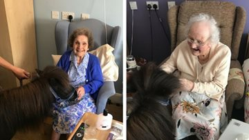 Pony party for Residents at Birmingham care home
