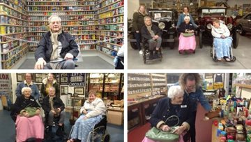 Bristol care home Residents take a journey back in time at Oakham Treasures