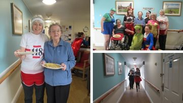 Residents have stacks of fun for Pancake Day at Wotton-under-Edge care home