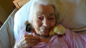 Egg-citing times at Littlehampton care home