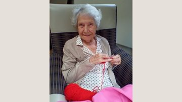 Ilkeston care home Resident is 100 years old and still got it!