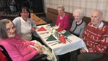Wallyford care home Residents enjoy festive lunch