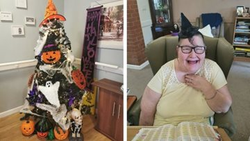 Derby care home put up spooky Halloween trees