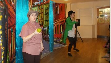 Durham care home Residents enjoy festive pantomime