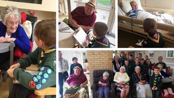 Glanffrwd care home enjoys campfire-themed activities with Pencoed cubs, scouts and beavers