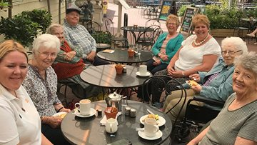 Local Care Home Residents trip out to Garden Centre