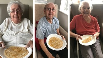 Falstone Manor has a flipping good time as Residents celebrate Pancake Day