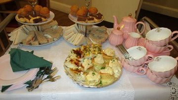 Harrogate care home Residents enjoy afternoon tea