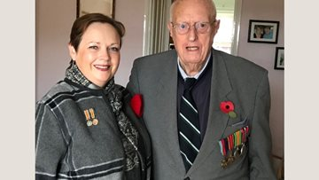Dudley care home Manager commemorates 100 years of Armistice with Veteran father