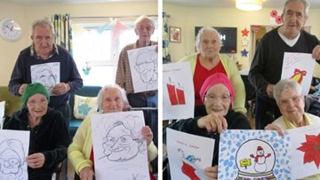 Mountain Ash care home gets in the festive spirit for Christmas card competition