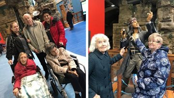 Care home Residents enjoy trip to local aquarium