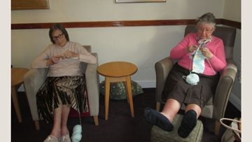 Wakefield care home knitting group helps to stitch the community together