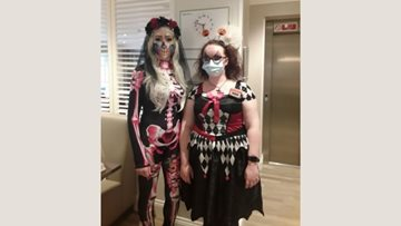Halloween takes centre stage at Newton Aycliffe care home