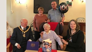Resident celebrates 100th birthday at Runcorn care home