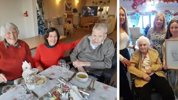 Stirling care home Residents share traditional Christmas meal with loved ones