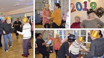 Party time at Hayes care home