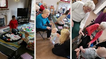 Festive fun with messy play group at Morpeth care home