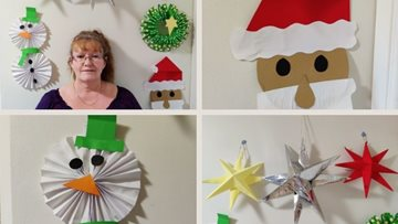 Creative Watford care home Resident makes beautiful Christmas decorations